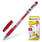 "Ручка гелевая ""BRAUBERG"" ""Jet"" , корпус прозр, толщина письма 0,5мм, 141020 , красная"
