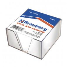 "Блок д/записей""Brauberg""непроклееный 90х90х50 белый | опт и розница"