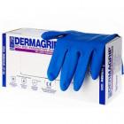 Перчатки резин.синие (L )DERMAGRIP /25