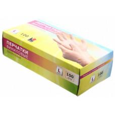 Перчатки виниловые L (100шт) | опт и розница