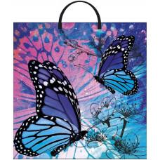 Сумка 36*40 Бабочки пласт.руч.(1/100)Конт. | опт и розница