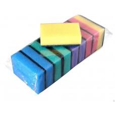 Губка для посуды (10шт) Макси 9,2х6,5х2,7см Континент/15   опт и розница