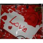 Сумка 36*40 Розы и сердце пласт.руч. (1/100)Конт