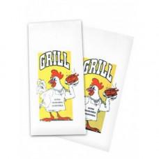 Пакеты для кур/гриль 200+80х320 с печатью | опт и розница