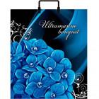 Сумка 36*40 Голубые цветы пласт.руч. (1/100)Конт