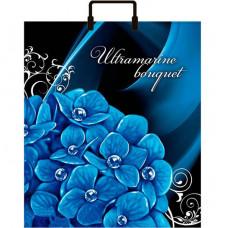 Сумка 36*40 Голубые цветы пласт.руч. (1/100)Конт | опт и розница
